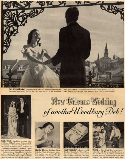 Woodbury's Facial Soap – New Orleans Wedding of another Woodbury Deb (1948)