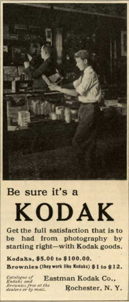 Kodak – Be sure it's a Kodak (1910)