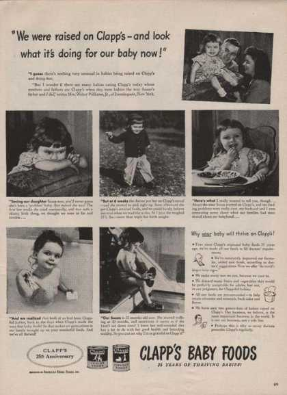 We Were Raised On Clapps Baby Food Print A (1946)
