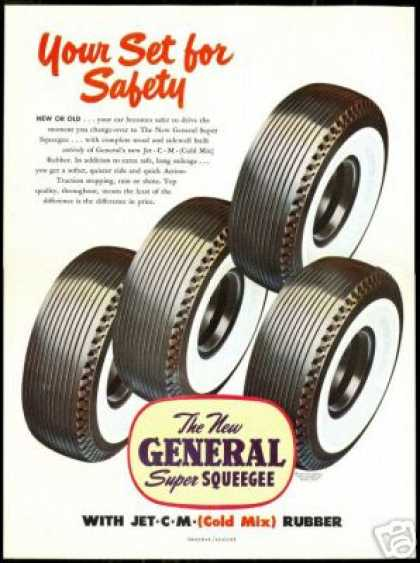 General Tire Super Squeegee Car Wide Whitewalls (1949)