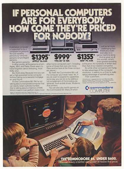 '83 Commodore 64 Personal Computer Others Overpriced (1983)