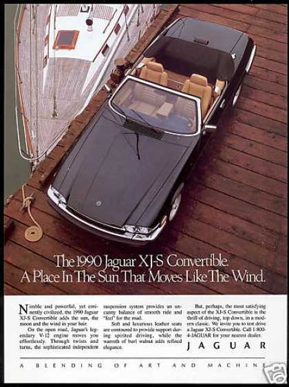 Jaguar XJS XJ-S Convertible Car Sailboat Photo (1990)