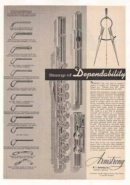 Armstrong Flute Drop-Forged Key Process (1963)