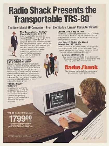 Radio Shack Transportable TRS-80 4P Computer (1984)