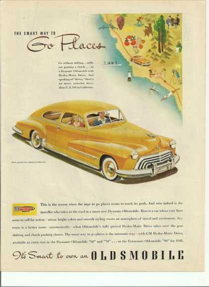 Its Smart To Own an Yellow Oldsmobile Car (1948)