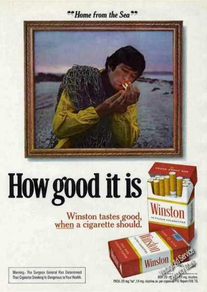 "Winston ""Home From the Sea"" Cigarettes (1973)"