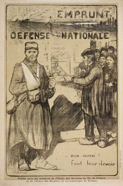 Emprunt de la Defense Nationale, French war poster
