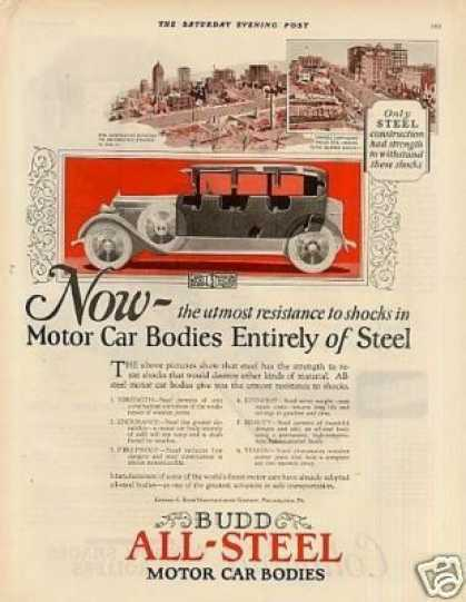 Budd All-steel Motor Car Bodies (1924)