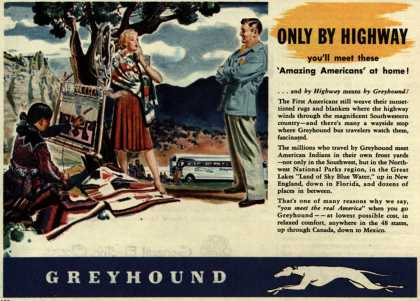 Greyhound – Only By Highway you'll meet these 'Amazing Americans' at home (1946)