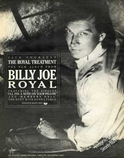 Billy Joe Royal Picture Music Promo (1987)