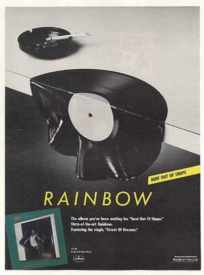 '83 Rainbow Bent Out Of Shape PolyGram Records (1983)