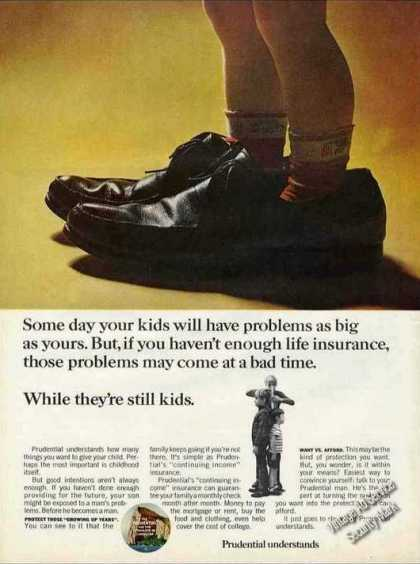 Prudential Understands Small Boy In Dads Shoes (1967)