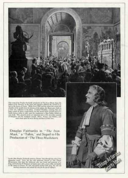 "Douglas Fairbanks ""The Iron Mask"" Movie Feature (1929)"