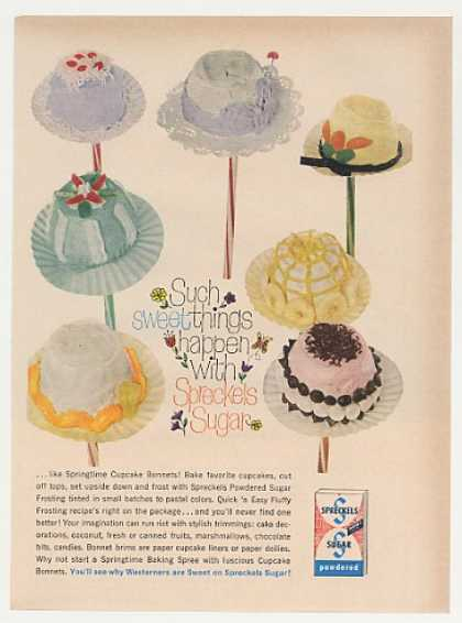 Spreckels Sugar Springtime Cupcake Bonnets (1960)