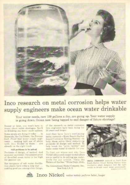 INCO Nickel Company – Drinkable Water (1958)
