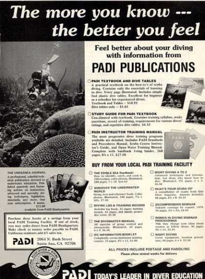 Padi Scuba Diver Education Sea T (1979)