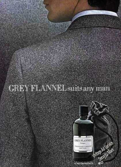 "Grey Flannel ""Suits Any Man"" Cologne (1982)"