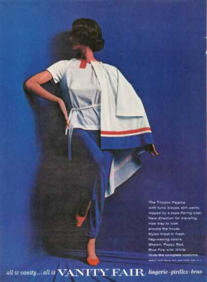 Vanity Fair Pajama Blouse Cape Flaring Coat (1961)