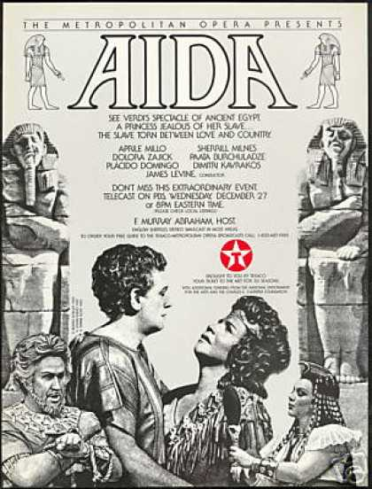 Met Opera Aida Verdis Egypt Domingo Texaco PBS (1989)