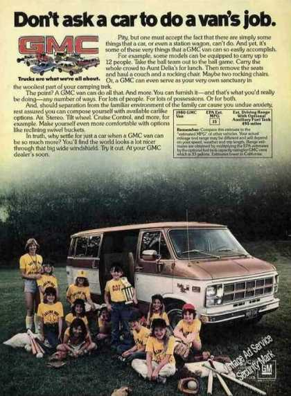 "Gmc ""Don't Ask a Car To Do a Van's Job"" (1980)"