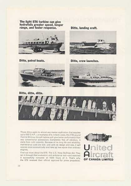 United Aircraft ST6 Hydrofoil Patrol Boats (1966)