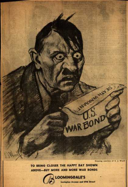 Bloomingdale's War Bonds – Death Warrant... U.S. War Bond (1943)