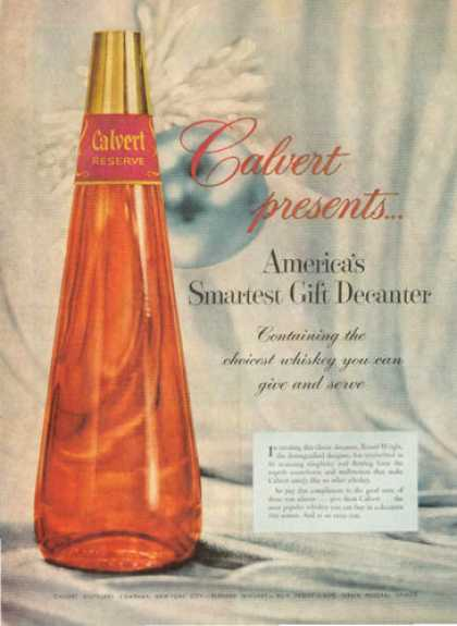 Calvert Whiskey Decanter Bottle (1955)