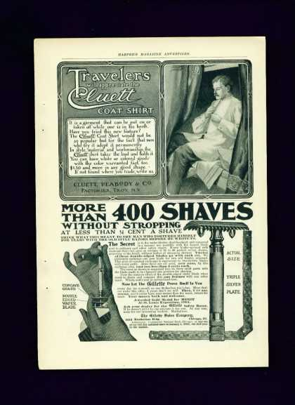 Gillette Silver Plate Safety Razor Ad C 1/2 Page (1905)
