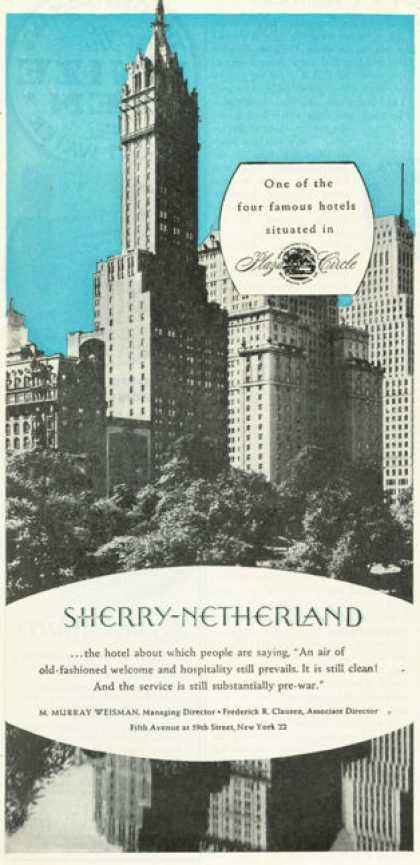 Sherry Netherland Plaza Hotel New York (1945)