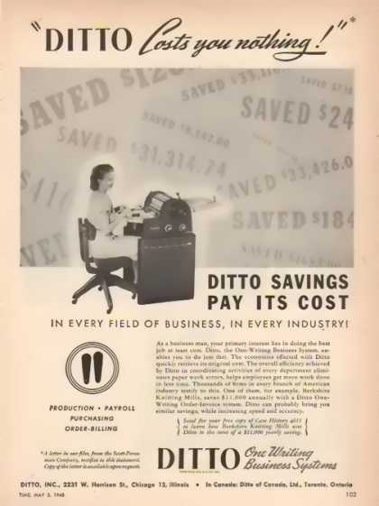 DITTO Incorporated – Berkshire Mills (1948)
