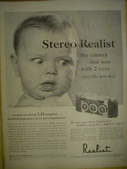 Realist Camera. Stereo Realist. The camera that sees with two eyes (1955)