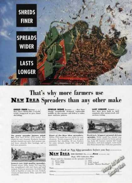New Idea Spreaders Coldwater Oh Farm (1958)