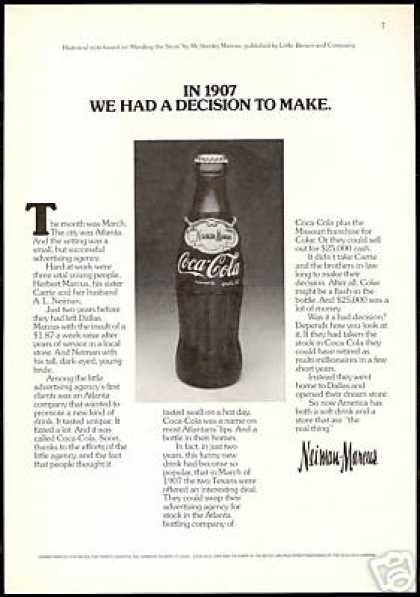 Neiman Marcus or Coke Coca Cola Decision (1974)