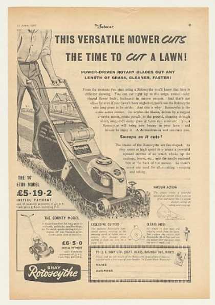 Shay Rotoscythe Lawn Mower British (1955)