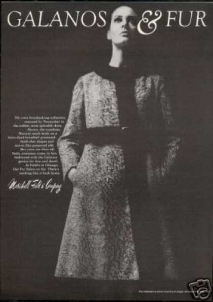 Galanos Mink Lamb Fur Coat Marshall Field Co (1968)