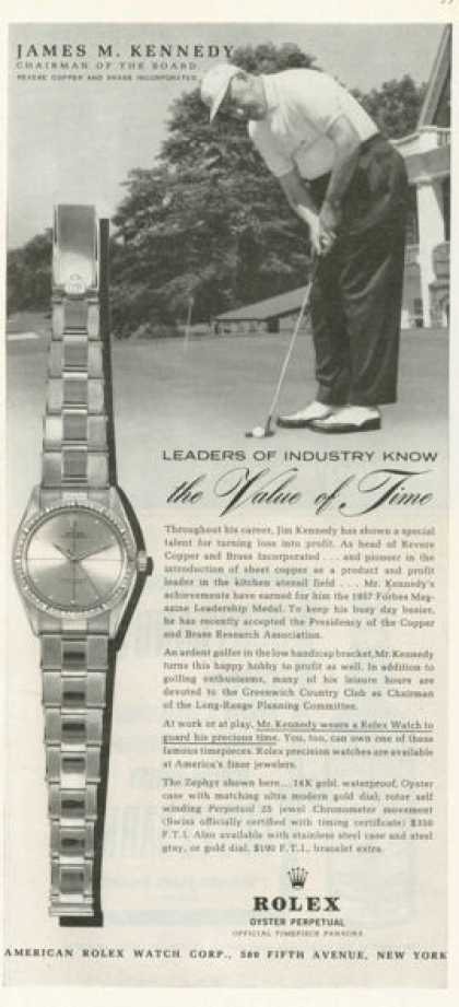 Rolex Zephyr Watch Golfing Golf (1958)