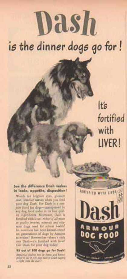 Dash Armour Dog Food – Collie and Pup (1949)