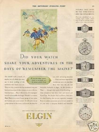 Elgin Watches Color (1927)