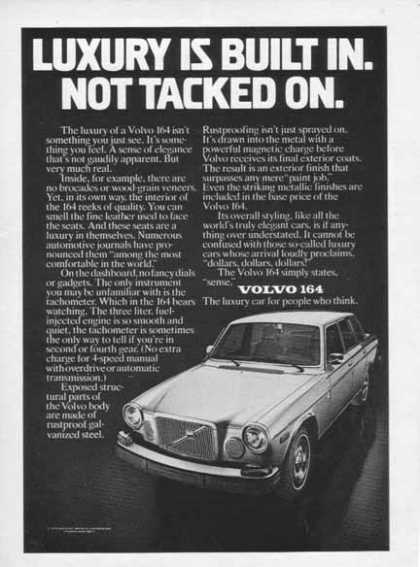 Volvo 164 – Car – The Luxury car for people who think (1975)
