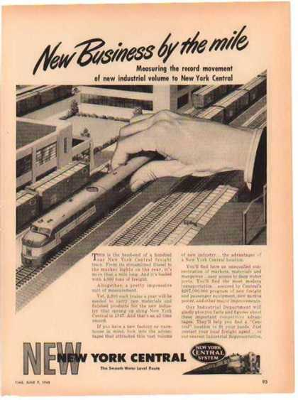 New York Central Train – New Business by the Mile (1948)