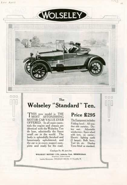 Wolseley, USA (1923)