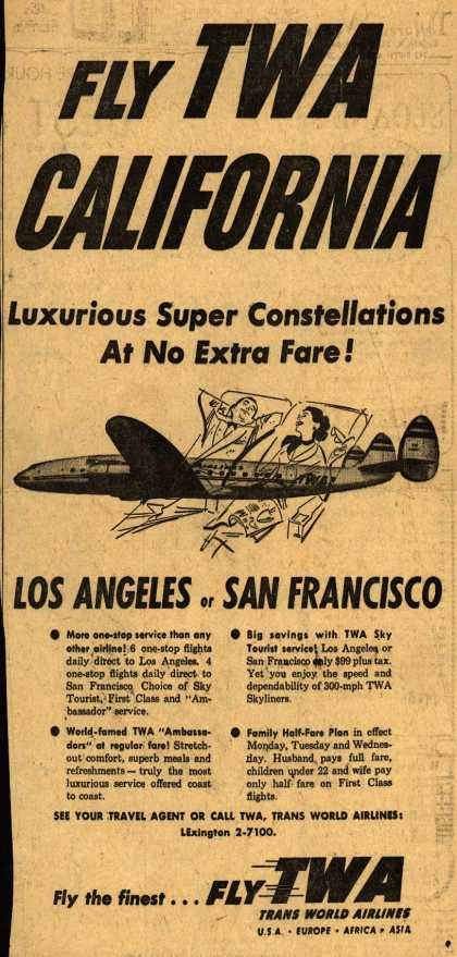 Trans World Airline's California – Fly TWA CALIFORNIA (1953)