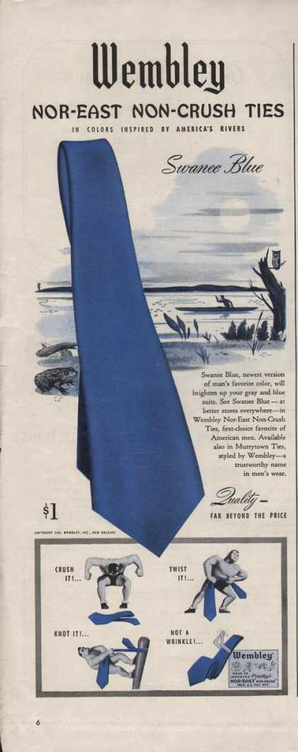 Wembley Nor East Non Crush Men S Ties (1942)
