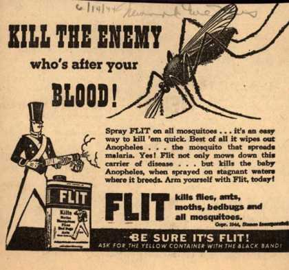 Stanco Incorporated's Flit – Kill the Enemy Who's After Your Blood (1944)