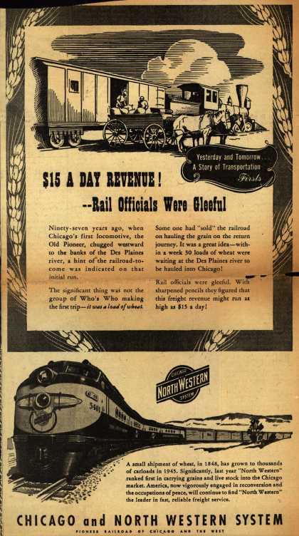 Milwaukee Road's Freight Service – $15 A DAY REVENUE! – Rail Officials Were Gleeful (1945)