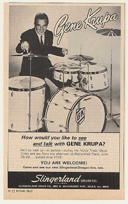 Gene Krupa Slingerland Drums Photo (1971)