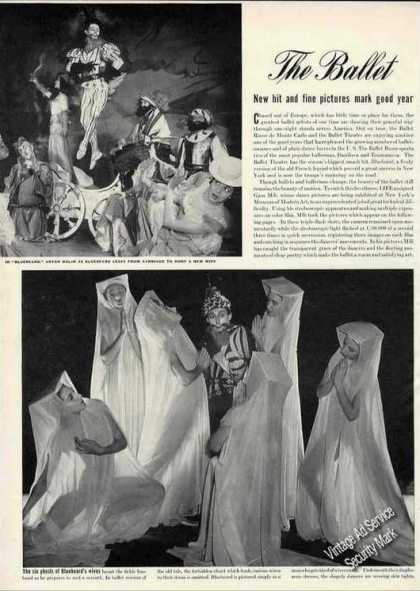 "Ballet ""Bluebeard"" ""Copella"" & ""Swan Lake"" Article (1942)"