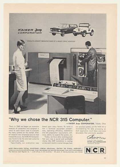 Kaiser Jeep NCR 315 Computer System (1964)