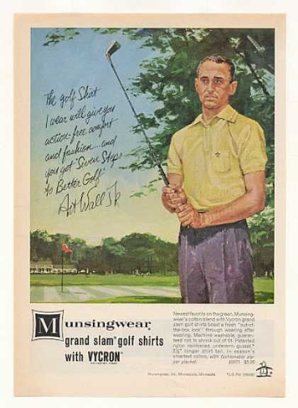 Golfer Art Wall Jr Munsingwear Golf Shirt (1963)
