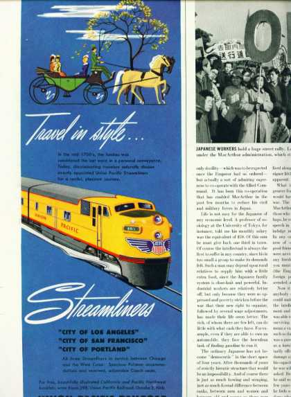 Union Pacific C Ad Streamline (1948)
